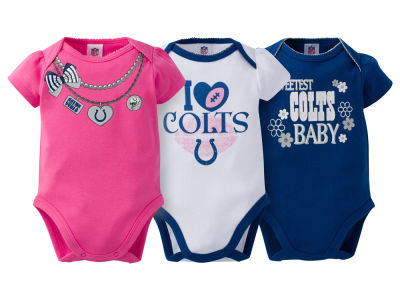 Indianapolis Colts Gerber NFL Newborn Girls 3Pk Bodysuit