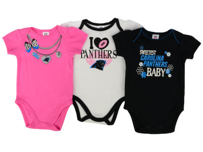Carolina Panthers Gerber NFL Newborn Girls 3Pk Bodysuit