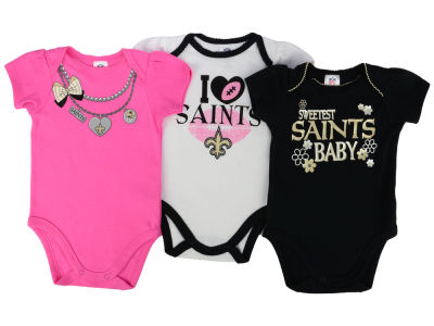 New Orleans Saints Gerber NFL Newborn Girls 3Pk Bodysuit