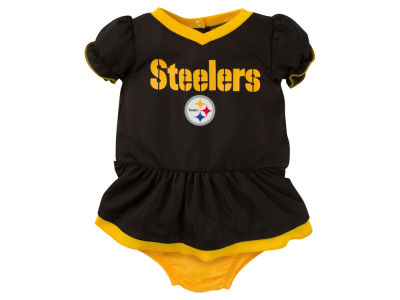 Pittsburgh Steelers Gerber NFL Newborn Girls Dazzle Dress