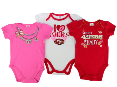 San Francisco 49ers NFL Infant Girls 3Pk Bodysuit