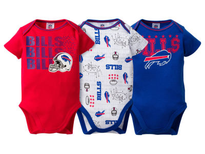 Buffalo Bills Gerber NFL Newborn 3Pk Bodysuit