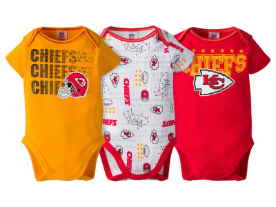 Kansas City Chiefs Gerber NFL Newborn 3Pk Bodysuit