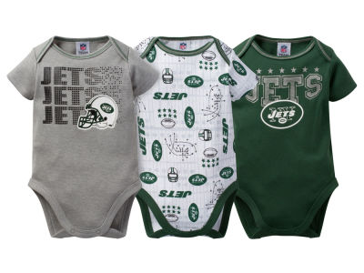New York Jets Gerber NFL Newborn 3Pk Bodysuit