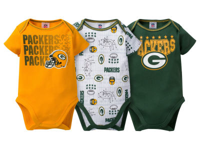 Green Bay Packers NFL Newborn 3Pk Bodysuit