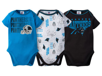 Carolina Panthers NFL Newborn 3Pk Bodysuit
