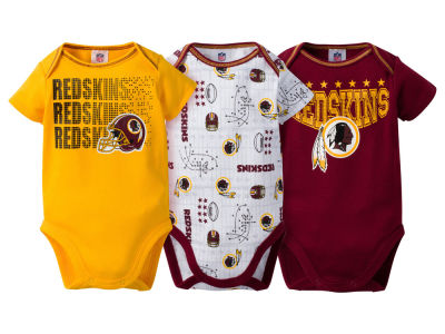 Washington Redskins Gerber NFL Newborn 3Pk Bodysuit