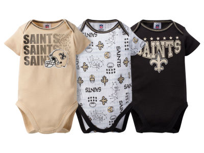 New Orleans Saints NFL Newborn 3Pk Bodysuit