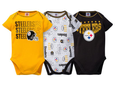 Pittsburgh Steelers Gerber NFL Newborn 3Pk Bodysuit