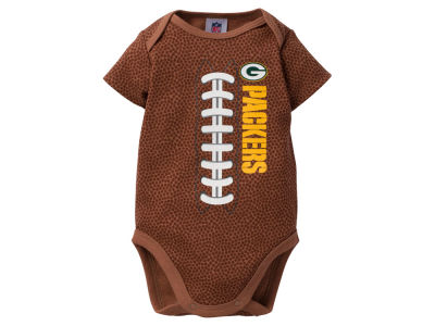 Green Bay Packers NFL Newborn Football Print Bodysuit