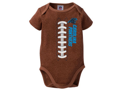 Carolina Panthers NFL Newborn Football Print Bodysuit