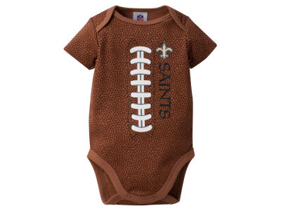 New Orleans Saints NFL Newborn Football Print Bodysuit