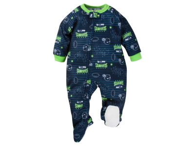 Seattle Seahawks Gerber NFL Newborn Blanket Sleeper