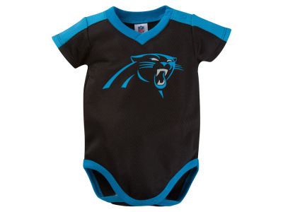 Carolina Panthers NFL Newborn Dazzle Mesh Bodysuit