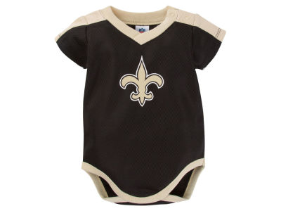 New Orleans Saints NFL Newborn Dazzle Mesh Bodysuit