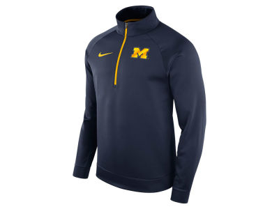 Michigan Wolverines Nike NCAA Men's Hypercolor Logo Quarter Zip Pullover
