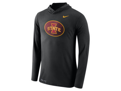 Iowa State Cyclones Nike NCAA Men's Dri-Blend Hooded Long Sleeve T-Shirt
