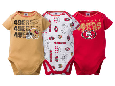 San Francisco 49ers NFL Infant 3Pk Bodysuit