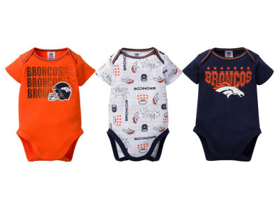 Denver Broncos NFL Infant 3Pk Bodysuit