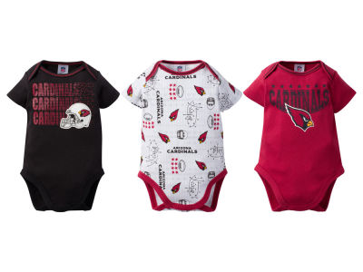 Arizona Cardinals Gerber NFL Infant 3Pk Bodysuit