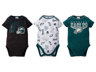 Philadelphia Eagles NFL Infant 3Pk Bodysuit