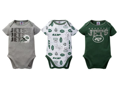 New York Jets Gerber NFL Infant 3Pk Bodysuit