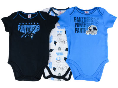 Carolina Panthers Gerber NFL Infant 3Pk Bodysuit