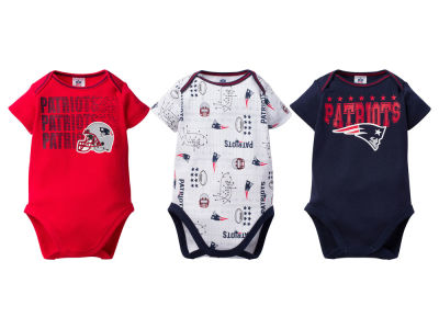 New England Patriots NFL Infant 3Pk Bodysuit