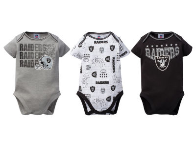 Oakland Raiders NFL Infant 3Pk Bodysuit