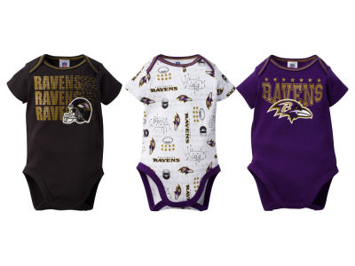 Baltimore Ravens Gerber NFL Infant 3Pk Bodysuit