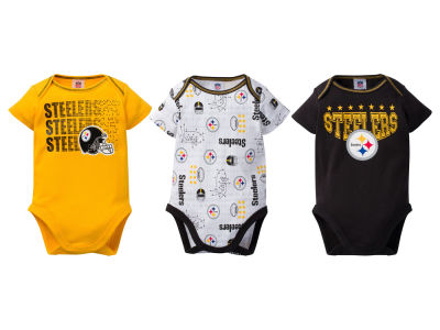 Pittsburgh Steelers Gerber NFL Infant 3Pk Bodysuit