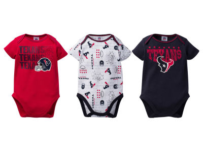 Houston Texans NFL Infant 3Pk Bodysuit