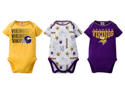 Minnesota Vikings NFL Infant 3Pk Bodysuit