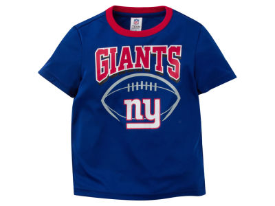 New York Giants NFL Toddler Poly Football T-Shirt