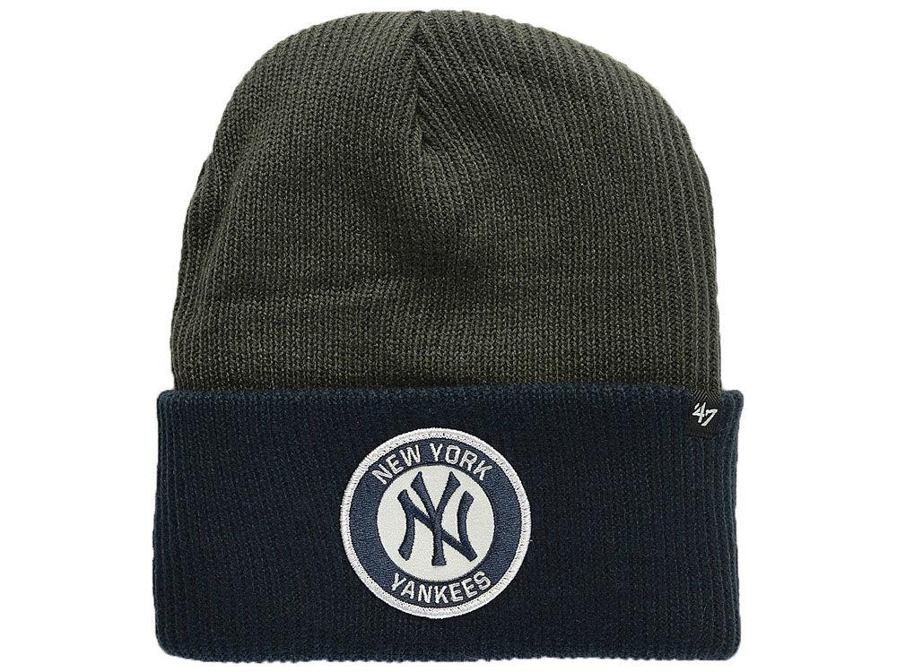 New York Yankees  47 MLB Ice Block Cuff Knit 27be5d37145