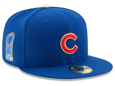 Chicago Cubs New Era MLB Authentic Collection 2016 World Series Commemorative Gold 59FIFTY