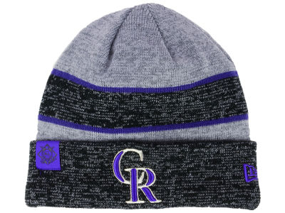 Colorado Rockies New Era 2017 MLB On Field Sport Knit