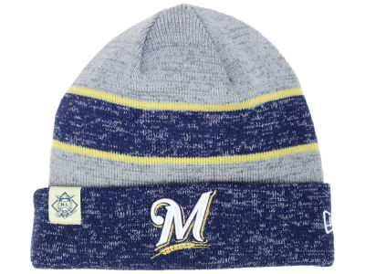Milwaukee Brewers New Era 2017 MLB On Field Sport Knit
