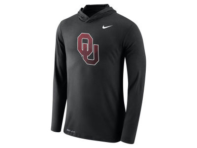 Oklahoma Sooners Nike NCAA Men's Dri-Blend Hooded Long Sleeve T-Shirt