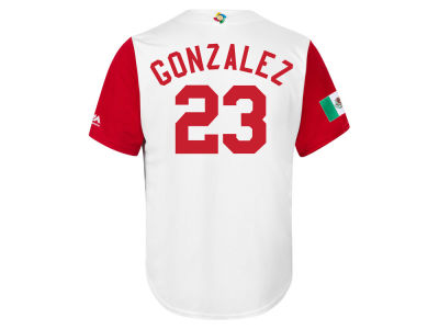 Mexico Adrian Gonzalez Majestic MLB Men's World Baseball Classic Replica Cool Base Jersey