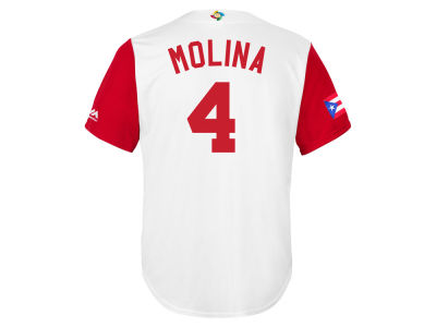Puerto Rico Yadier Molina Majestic MLB Men's World Baseball Classic Replica Cool Base Jersey