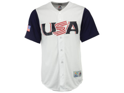 USA Majestic MLB Men's World Baseball Classic Replica Cool Base Jersey
