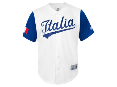 Italy Majestic MLB Men's World Baseball Classic Replica Cool Base Jersey