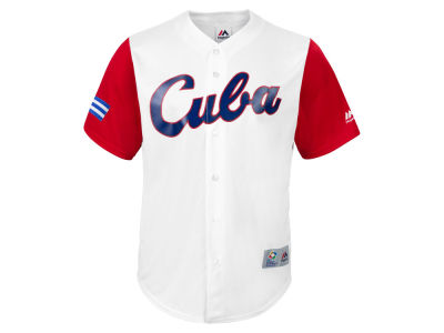 Cuba Majestic MLB Men's World Baseball Classic Replica Cool Base Jersey
