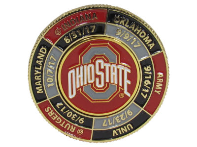 Ohio State Buckeyes 2017 2 Sided Football Schedule Coin
