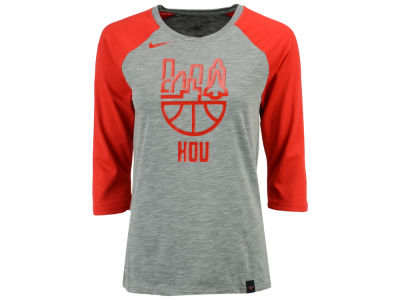 Houston Rockets Nike NBA Women's Cityscape Raglan T-Shirt