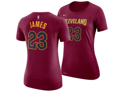 Cleveland Cavaliers LeBron James Nike NBA Women's Name and Number Player T-Shirt