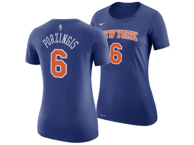 New York Knicks Kristaps Porzingis Nike NBA Women's Name and Number Player T-Shirt
