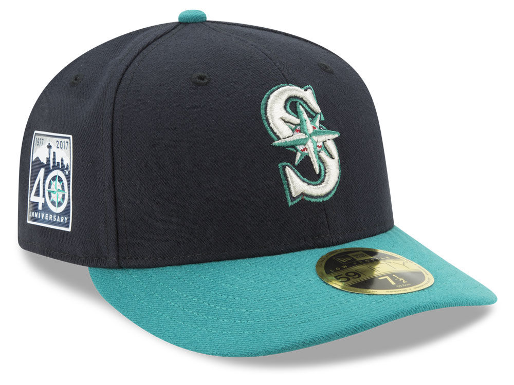 half off b174a d50dc ... amazon seattle mariners new era mlb 2017 40th anniversary patch 59fifty  low profile cap 29179 36443