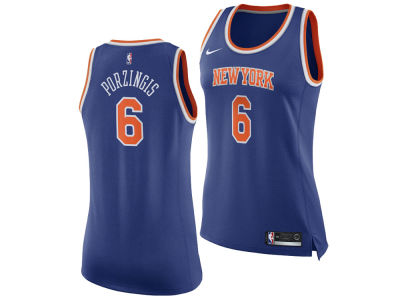 New York Knicks Kristaps Porzingis Nike NBA Women's Swingman Jersey